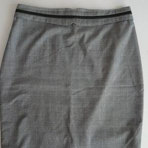 Portmans Grey Plaid skirt size 14